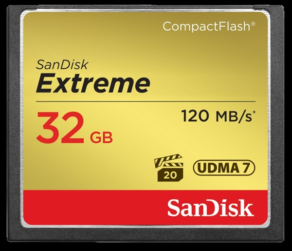 SanDisk CF Extreme 32GB 120MB/85MB