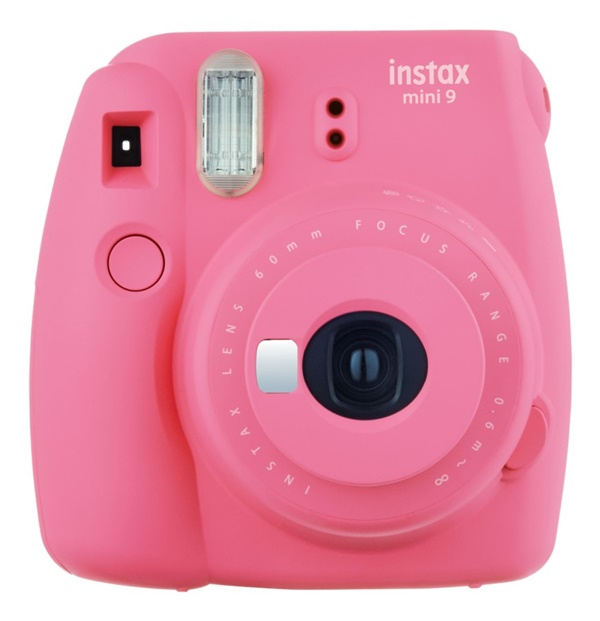 Fujifilm Instax Mini 9 Flamingopink + Instax Mini Film + Clips + Fotoseil