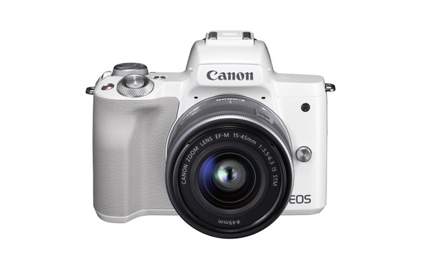 Canon EOS M50 + EF-M 15-45mm + EF-M 22mm weiss