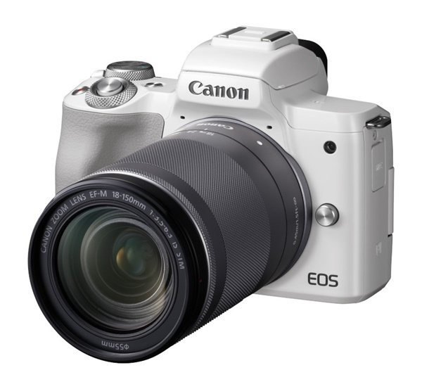 Canon EOS M50 + EF-M 18-150mm weiss