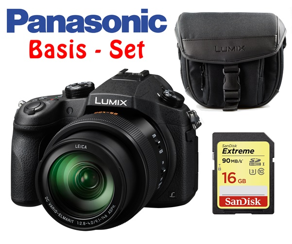 Panasonic Lumix DMC-FZ1000 Basis-Set inkl. Tasche, 16GB